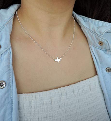 Sterling Silver DOVE Necklace \u2022 Sterling Silver Necklace \u2022 Tiny Dove Necklace \u2022 Silver Bird Necklace \u2022 Dainty Necklace \u2022 Layering Necklace