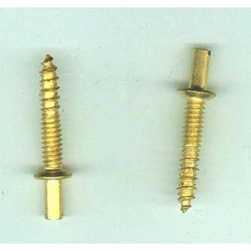 Don-Jo RHP 100 Hinge Pin, Brass plated, #10 Head (Pack of 10)