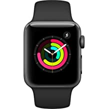 Apple Watch Series 3 38mm Smartwatch (GPS Only, Space Gray Aluminum Case, Black Sport Band) (Certified Refurbished)