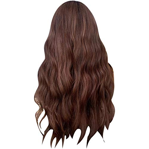 Wig Clement Attlee Curly Wave Natural Wavy Party Wigs Fashion Long Lace Front Brown Synthetic Wig