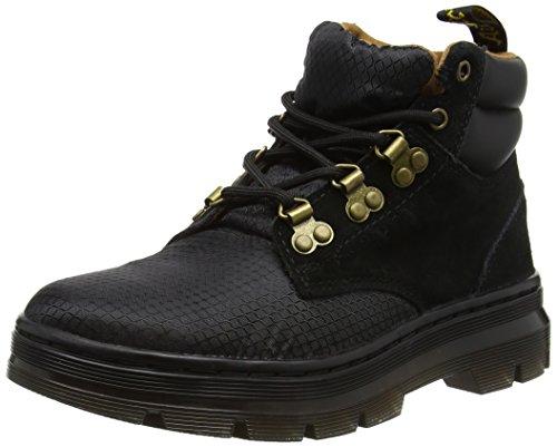 Dr. Martens Unisex-Erwachsene Rakim Biker Boots, Schwarz Schwarz (Black Rhombus Nylon Mesh/hi Suede Wp)