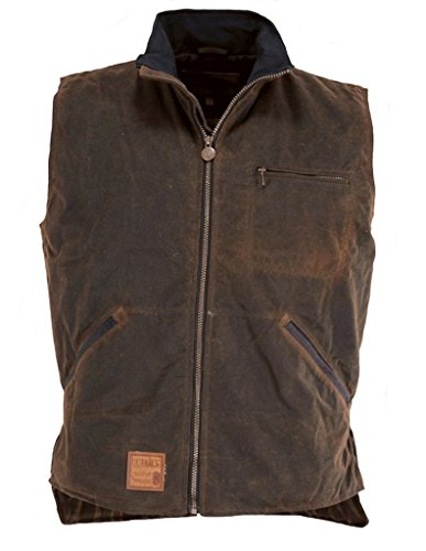 - Outback Trading Co Mens CO. sawbuck Flannel Lined Oilskin Vest Bronze Large