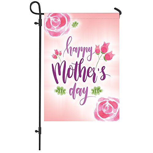 Happy Mother's Day Garden Flag | Seasonal Garden Flag Outdoors Colorful Beautiful garden Flag, Perfect Sized 12 x 18 Inch Decorative Colorful Spring Summer Flower Floral Garden Flag, Mothers Day Gift Review