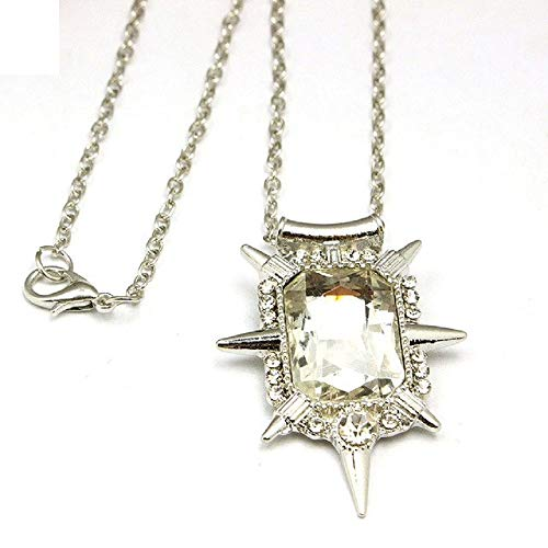 Once Upon A Time Glinda Clear Crystal Pendant Necklace Good Witch of the North Wizard of Oz Snow White necklace ()