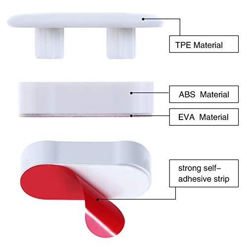 Yoja Bidet Toilet Seat Bidet Bumper for Bidet with Strong Adhesive (4pcs Bumper)