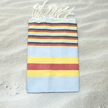 Hawaii amarillo 100% algodón Fouta toalla de baño, 100 cm x 200 cm,