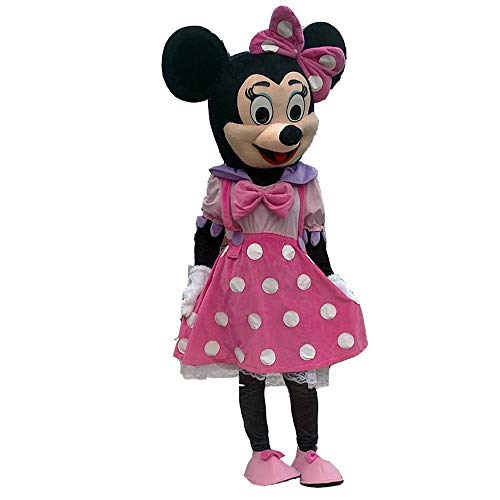 Adult Mascot Costume Parts Accessories for Pink Minnie Mouse Cosplay Character (Complete Mascot) -