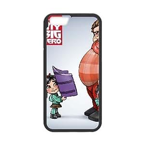 Big Hero 6 Funda iPhone 6 Plus 5.5 Inch Funda Caja del teléfono celular Negro F7Y8TY