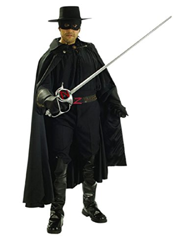 Zorro Grand Heritage Collection Deluxe Costume, Black, Standard ()