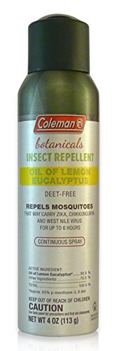 Coleman Oil of Lemon Eucalyptus | Naturally-based Insect Repellent | Deet Free | Continuous Spray 4 ()