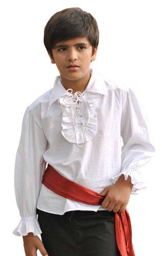 Kids Pirate Costume Shirt (Medium (6-8 yrs)) White]()