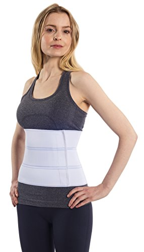 NYOrtho Abdominal Binder Lower Back Support Belt - Compression Wrap for Men and Women (30'' - 45'') 3 PANEL - 9'' by NYOrtho (Image #1)