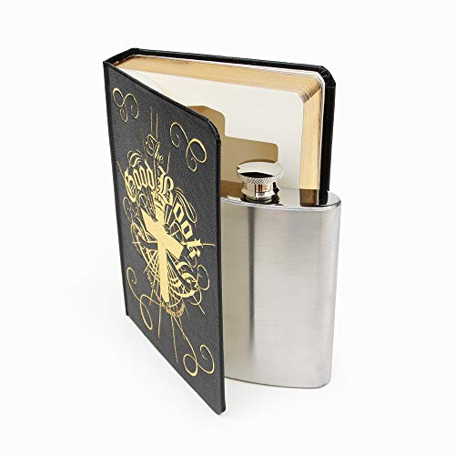 Suck UK SK FLASKBOOK1 Stainless Steel | Hidden Unique Gifts | Silver | Flask in a Good Book, Standard, Multicolor -