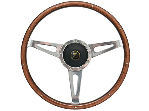 Volante S9 Sebring Style Wood Steering Wheel Kit compatible with 1978-1991 Ford Bronco