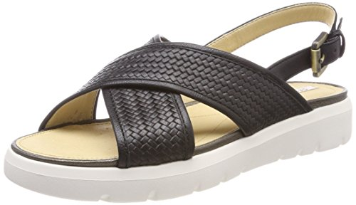 Black Women's Sandals Black Toe C9999 Open D Amalitha B Geox 0PqZw