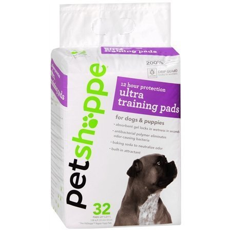 Pet Shoppe 12 Hour Protection Ultra Training Pads for Dogs & Puppies, 32 pads by PetShoppe Review