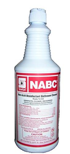 Non Acid Cleaner Disinfectant - Spartan NABC Non-Acid Disinfectant Bathroom Cleaner 2 Quart Pack
