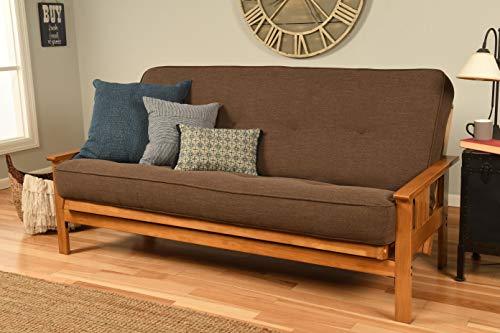 Kodiak Furniture KFMOBTLCOCLF5MD3 Monterey Futon Set with Butternut Finish Full Linen -