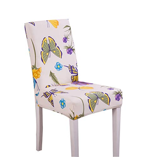 blue--net Merry Christmas Spandex Stretch Dining Room Chair Covers Kitchen Chair Covers Christmas Decoration Festive Favor for Holiday Party Festival Halloween Kitchen Dining Room Chairs (Butterfly) ()