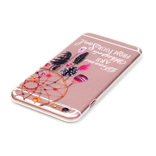 """iPhone 6 / 6S Schutzhülle , LH Transparent Traumfänger Windspiele TPU Weich Muschel Tasche Schutzhülle Silikon Hülle Schale Cover Case Gehäuse für Apple iPhone 6 / 6S 4.7"""""""