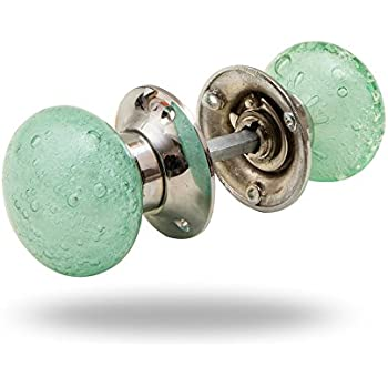 Bubble Glass Mortice Knobs Light Green By Trinca Ferro