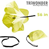 Triwonder 40 or 56 inch Speed Training Resistance Parachute Running Chute Power (Yellow - 56in)