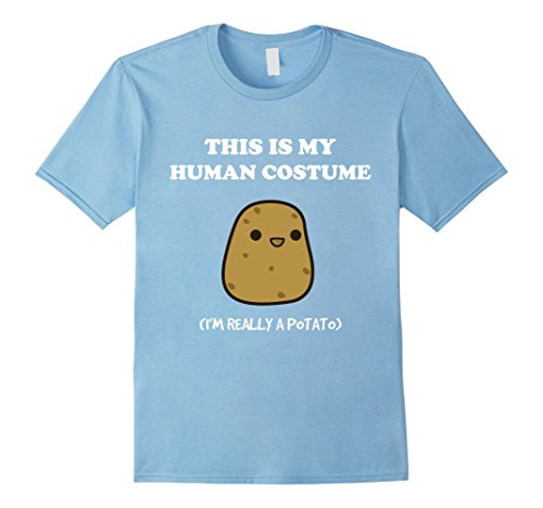 Funny Baby Costumes (Mens Funny Potato T-Shirt | Xmas Gift This Is My Human Costume XL Baby Blue)