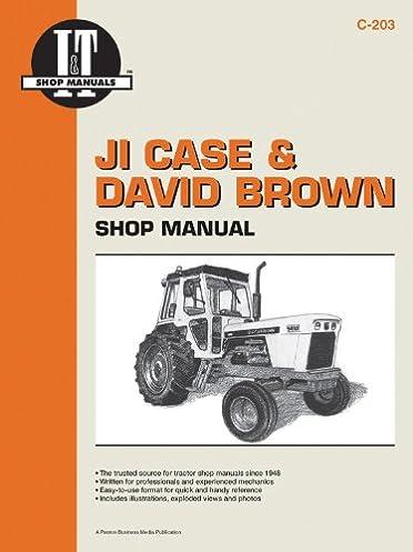 ji case david brown shop manual i t shop service manuals rh amazon com