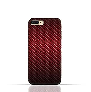 iPhone 8 TPU Silicone Case with Red Fiber Pattern