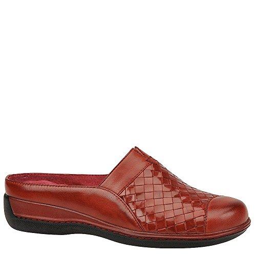 SoftWalk Women's San Marcos Dark Red Burnished Veg Kid Leather 12 D US Burnished Red Kids Shoes