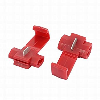 Fuxell 20Pcs Red Electrical Wire Connector Fast Quick Splice Cable ...