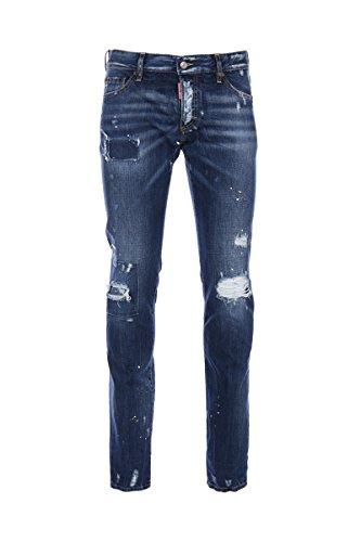 Dsquared2 Homme S71LB0292S30309470 Bleu Coton Jeans