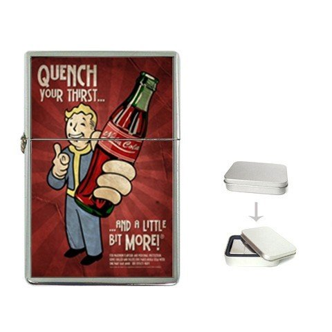 New Order NUKA COLA Quench Your Thirst Flip Top Lighter +Free Gift Box + Free ()