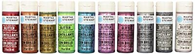 Martha Stewart Crafts Glitter Acrylic Craft Paint Set, 32309 (10 Colors)