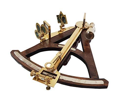 Quadrant Arm - Vintage Wooden Marine Octant Reflecting Instrument Measuring Reflecting Quadrant Ship Sailor Navigation Tool Marine Sextant