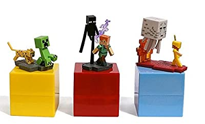 "Official Minecraft Craftables Series 1 Figure 3-Pack Set Blind Pack ""3 Random Styles"" by Minecraft"