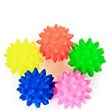 Serendipityy Pet Puppy Dog Squeaky Fetch Ball Toys Bite Resistant Squeeze Chew Toy for Aggressive Chewers Cute Colorful Ball Design S,L
