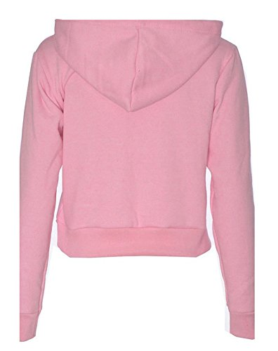 Sudaderas con Capucha Casual Deportiva Tops Just Do It Later Deporte para Mujer Pink