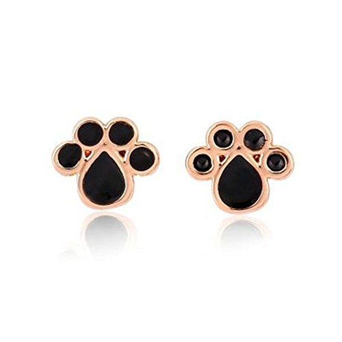 Print Freestyle Bow Tie - Cute little foot Stud Earrings fashion style freestyle