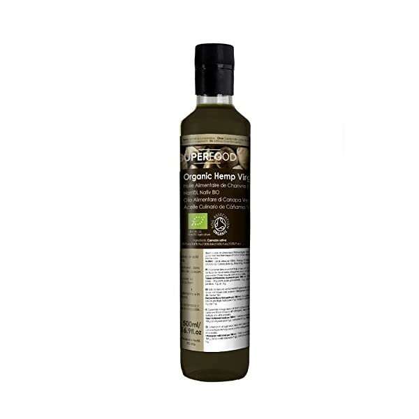 Naissance Convive Organic Hemp Food Oil (2 x 250ml) 500ml – Certified Organic, Unrefined & Rich in Omega 3, 6 & 9. Suitable for dressings, Smoothies & Sauces