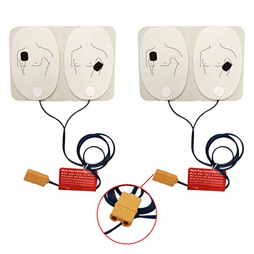 Training Electrode Pads for The AED Trainer Adult Training Replacement Pads for AED Trainer,2 Pairs,with Pins