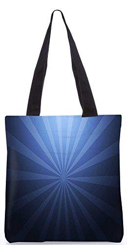 """Snoogg Abstraktes Blaues Muster-Einkaufstasche 13,5 X 15 In """"Shopping-Dienstprogramm Tragetasche Aus Polyester Canvas"""