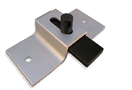 Surface Mounted Aluminum Slide Latch for Restroom Doors - Clear Finish - 3-1/2'' Between Mounting Hole Centers by Youngs Catalog
