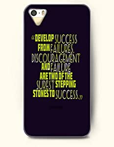 OOFIT iPhone 5/5s Case Develop Succes From Failures. Discouragement And Failure Are Two Of The Surest Stepping Stones To Success Motivational Sentence