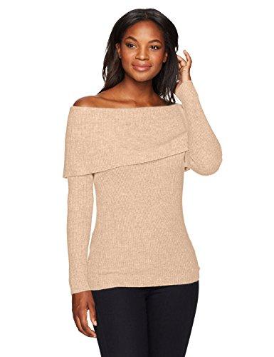 Lark & Ro Women's 100% Cashmere Off the Shoulder Sweater