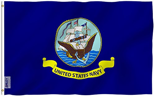 ANLEY  3x5 Foot US Navy Flag - Vivid Color and UV Fade Resis