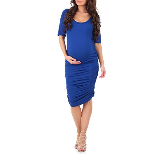 Women's Super Soft Side Ruched Maternity Dress by Mother Bee – Made in USA