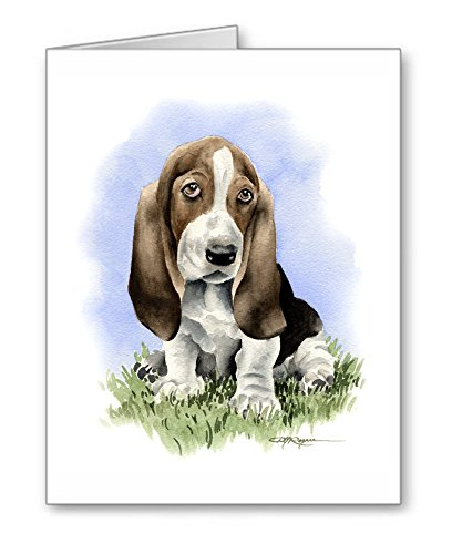 Basset Hound Puppy - Set of 10 Dog Note Cards With Envelopes