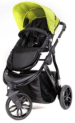 Muv Baby Trend Gaan Stroller, Satin Black/Kiwi