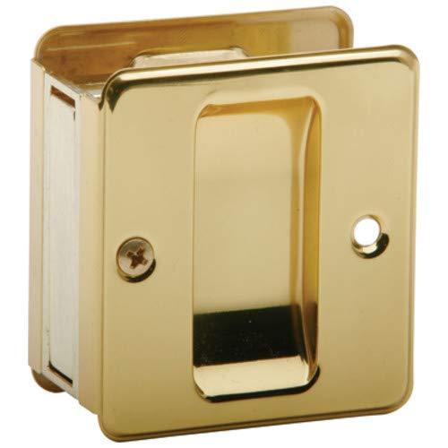 SCHLAGE Lock CO SC990B-605 Schlage Sc990B3 Door Pull, 2-3/4 in L 2-1/2 in D, Solid, Bright, Brass
